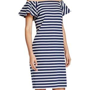 Lauren Ralph Lauren Striped Off the Shoulder Dress
